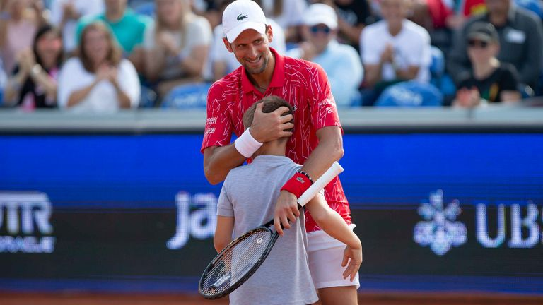 Novak Djokovic Among The Winners At His Charity Event In Belgrade Tennis News Sky Sports