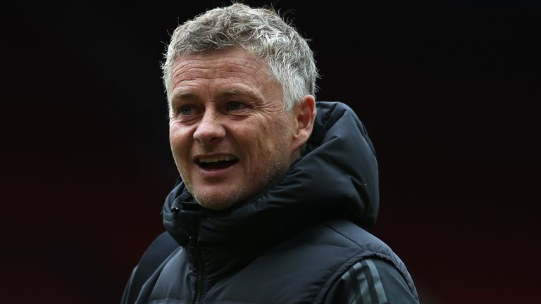Ole Gunnar Solskjaer looks on during the games against West Brom
