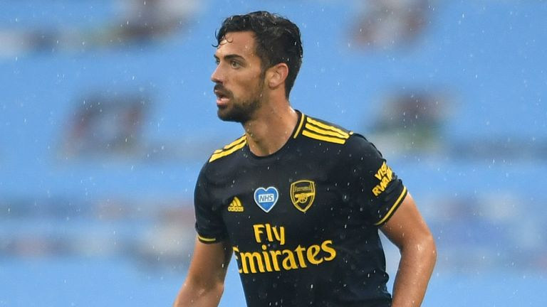 Pablo Mari in action for Arsenal at Manchester City