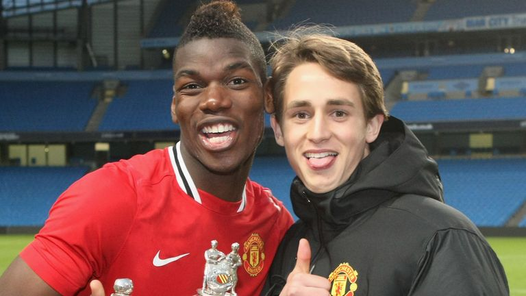 Pogba and Januzaj played in the United academy together and remain close friends