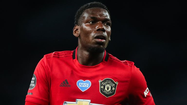 Paul Pogba of Manchester United during the Premier League match at Tottenham