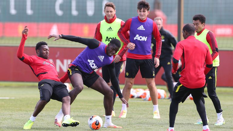 Paul Pogba and the rest of the United squad recently returned to contact training at the Aon Training Complex