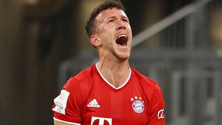 Ivan Perisic opened the scoring for Bayern against Eintracht Frankfurt