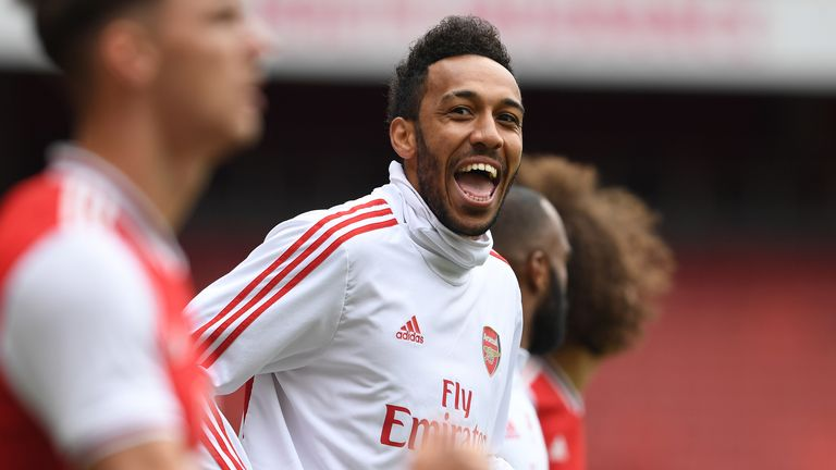 Aubameyang is Arsenal's top goalscorer in the Premier League this season with 17 goals