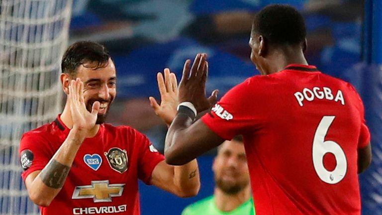 Paul Pogba has thrived alongside Bruno Fernandes in Man Utd's midfield