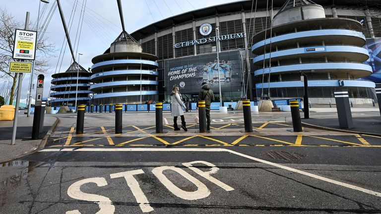 The Government and the Premier League have urged supporters not to congregate outside stadiums which are hosting behind-closed-doors matches