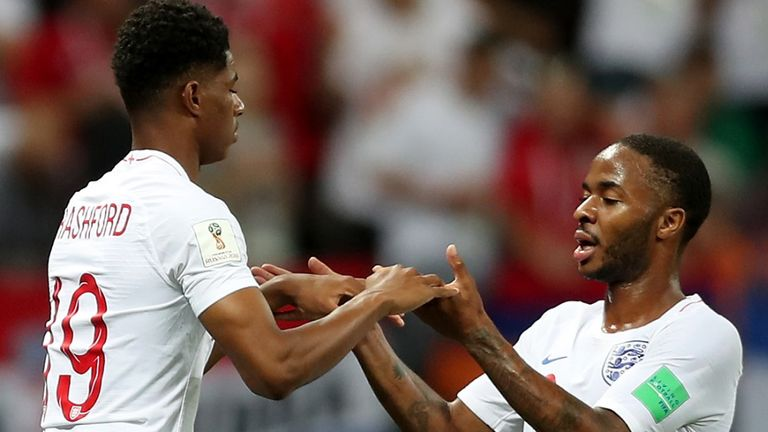 Marcus Rashford replaces Raheem Sterling for England