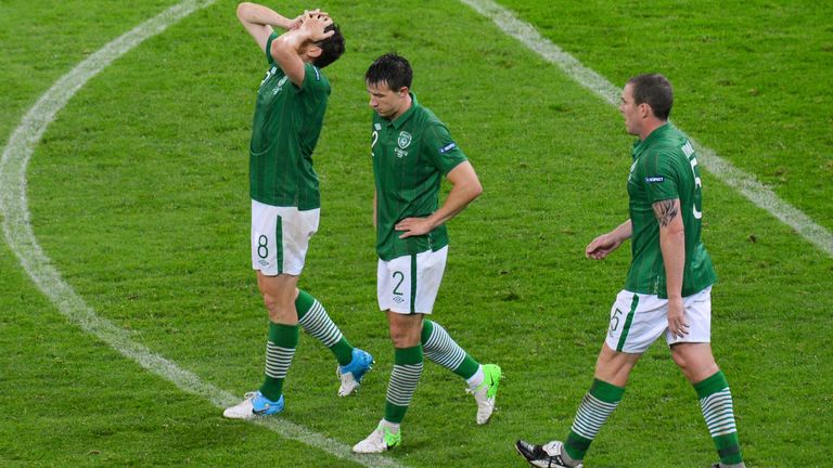 Ireland in anguish after losing 4-0 to Spain in their second group match of Euro 2012.