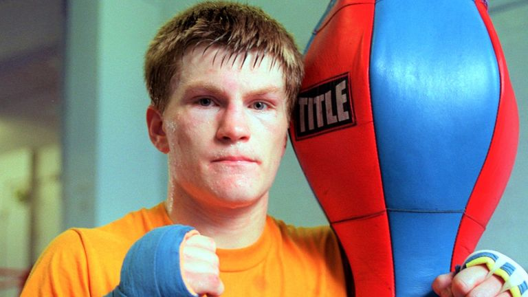 Ricky Hatton made his professional debut in September 1997