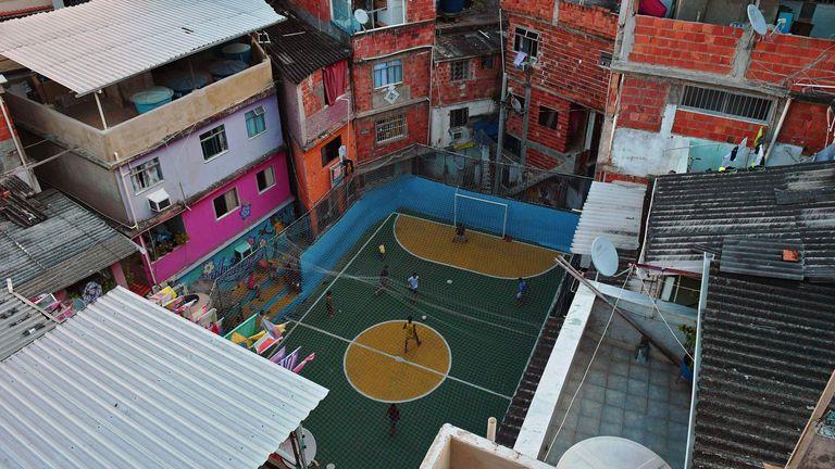 Football in a Rio de Janeiro Favela