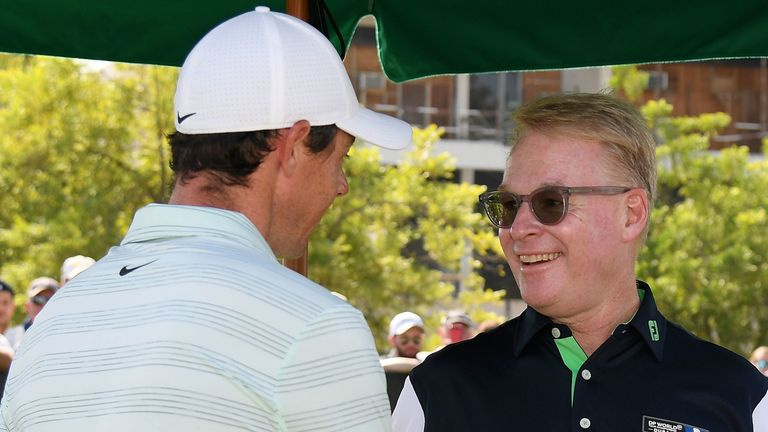 McIlroy told reporters that he is in regular communication with European Tour chief executive Keith Pelley