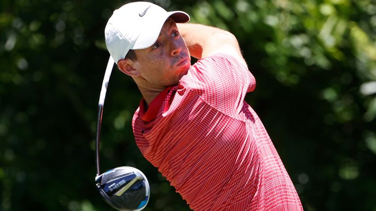 McIlroy mixed three birdies with one bogey in his 68