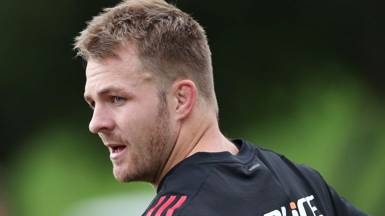 Sam Cane plays his first match since being appointed All Blacks captain