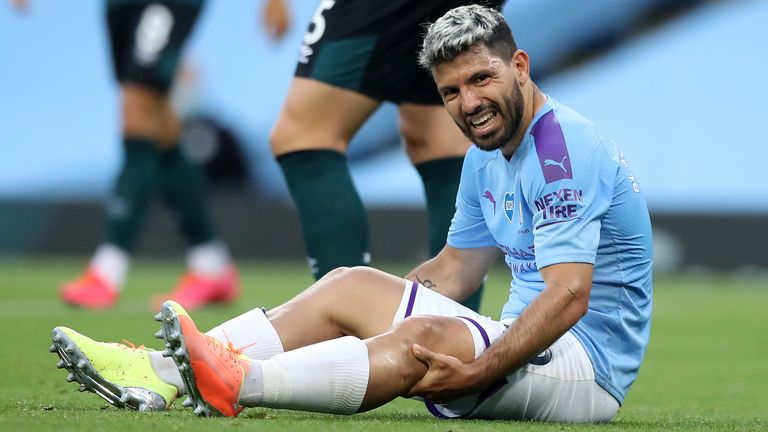 Pep Guardiola is unsure if Sergio Aguero will be fit to play in the latter stages of the Champions League, should City get past Real Madrid