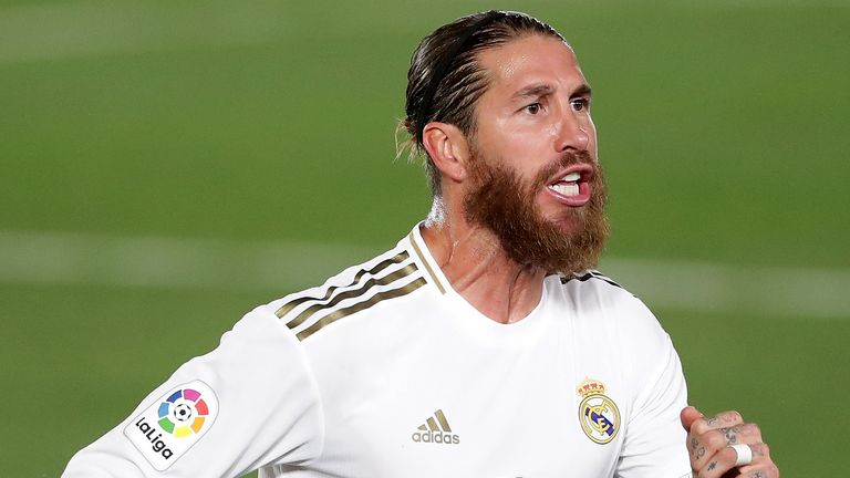 Sergio Ramos scored as Real Madrid moved back above Barcelona