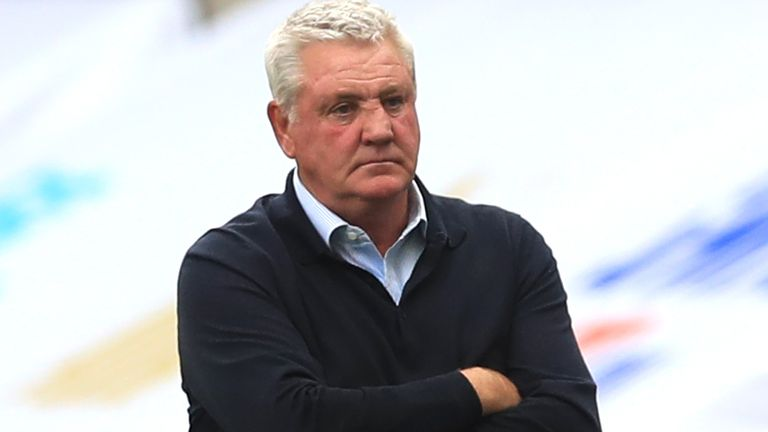 Steve Bruce was appointed Newcastle head coach on a three-year contract last July