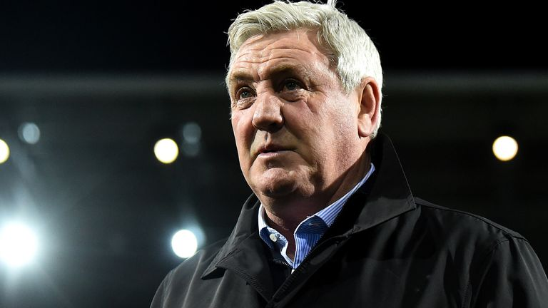 Steve Bruce, Manager of Newcastle United on the pitch prior to the FA Cup Fifth Round match between West Bromwich Albion and Newcastle United at The Hawthorns on March 03, 2020 in West Bromwich,