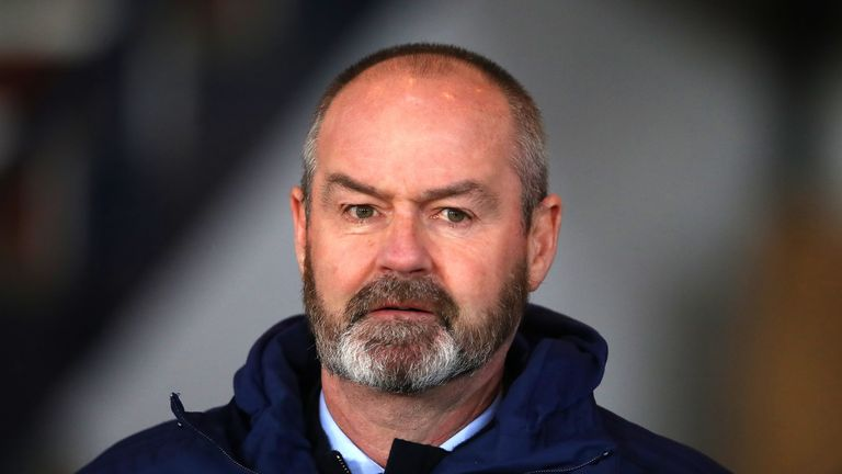 Scotland head coach Steve Clarke says Billy Gilmour's game-time will dictate if he is called up or not
