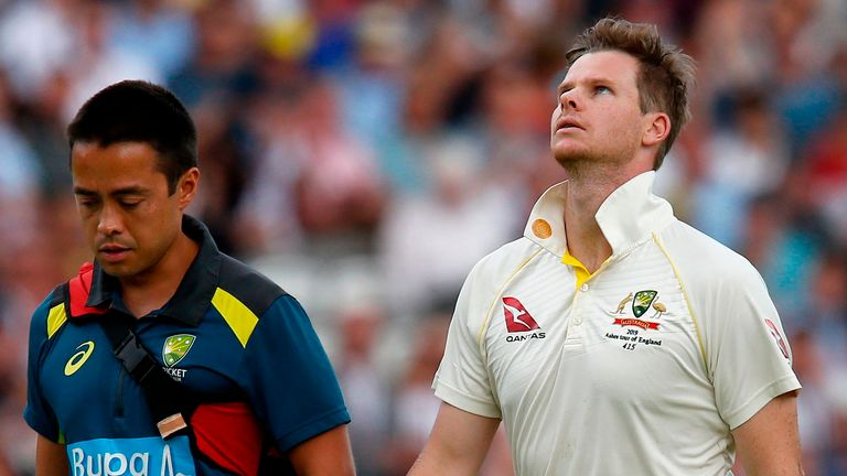 Steve Smith was the first cricketer to be substituted due to concussion during the Ashes Test at Lord's last summer