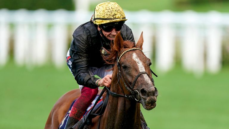 Stradivarius ridden by Frankie Dettori wins the Gold Cup during day three of Royal Ascot at Ascot Racecourse.