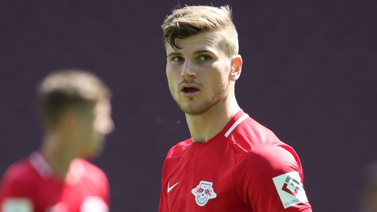 Timo Werner scored twice for RB Leipzig on his final appearance for the club