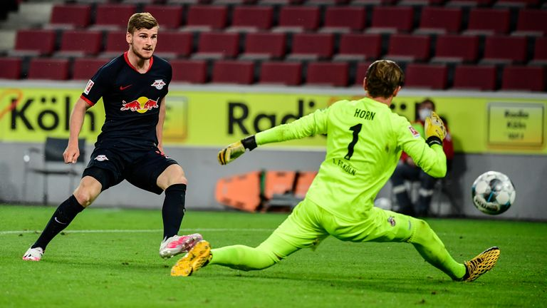 Timo Werner steers home to make it 3-1 five minutes into the second half