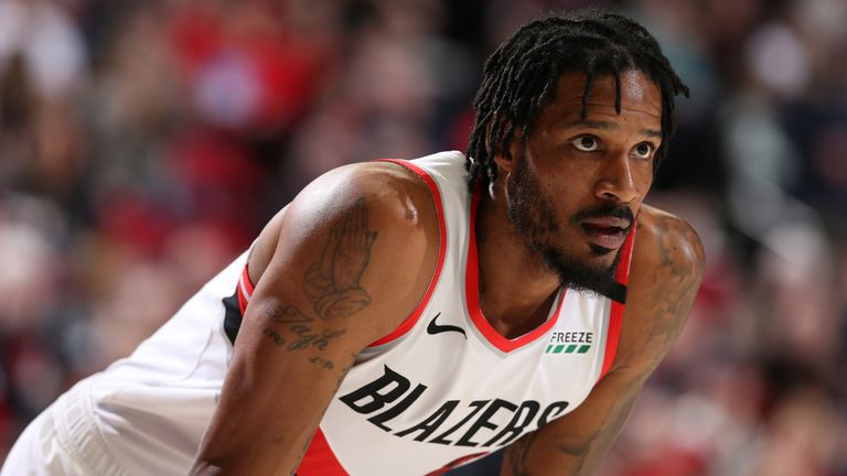 Trevor Ariza in action for the Portland Trail Blazers