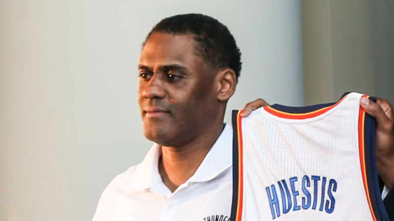 Troy Weaver pictured at an Oklahoma City Thunder press conference