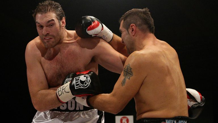 Fury eventually beat Pajkic in three rounds