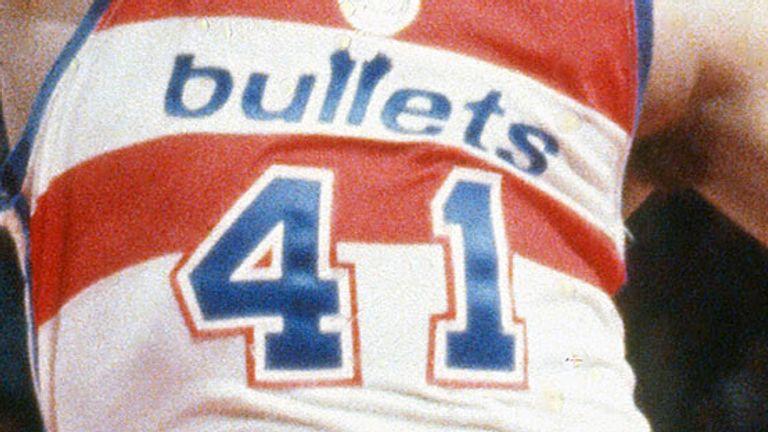 Wes Unseld's famous No 41 Washington Bullets jersey