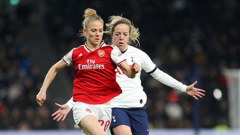 The first Women's Super League north London derby between Tottenham and Arsenal attracted a league-record attendance of 38,262