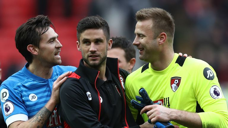 Charlie Daniels, Andrew Surman and Artuc Boruc (left to right) have all signed short-term extensions