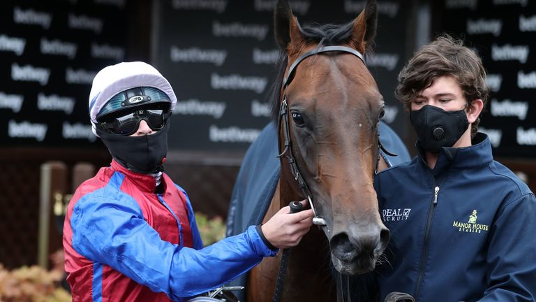 Richard Kingscote after winning the Betway EBF Novice Stakes on Lauded at Haydock Park