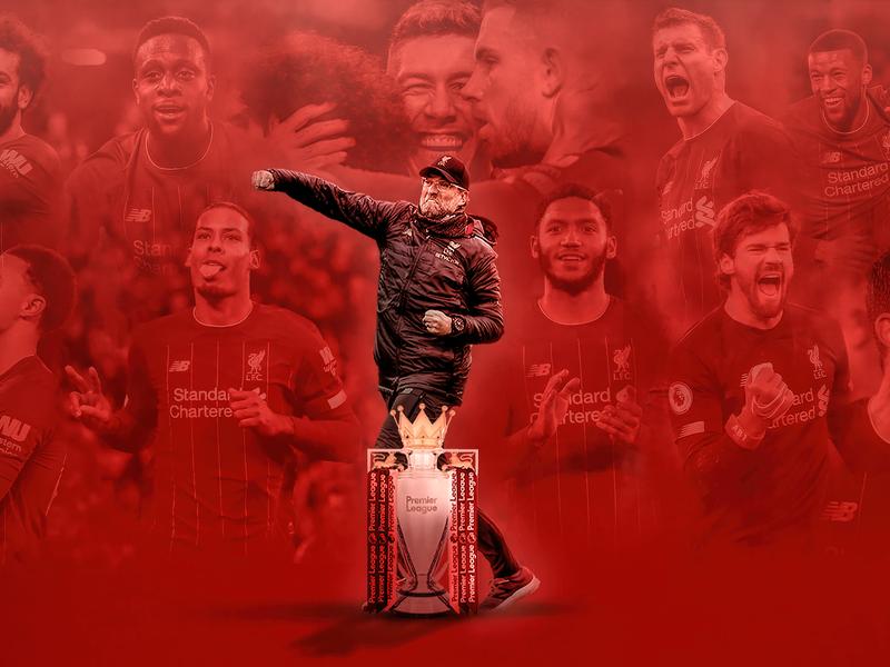 Liverpool 2020 Premier League champions framed print 19 League titles