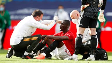 fifa live scores - Eric Bailly: Manchester United defender gives update after head clash against Chelsea