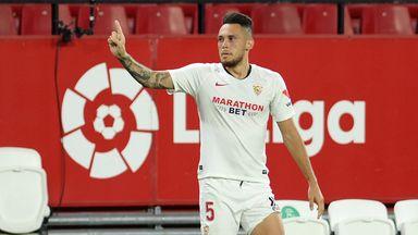 Lucas Ocampos scored Sevilla's winner against Eibar