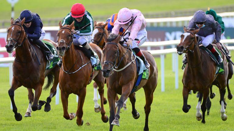 Even So and jockey Colin Keane land the Irish Oaks