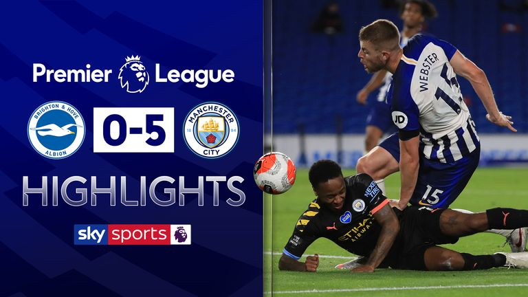 FREE TO WATCH: Highlights from Manchester City's win at Brighton in the Premier League