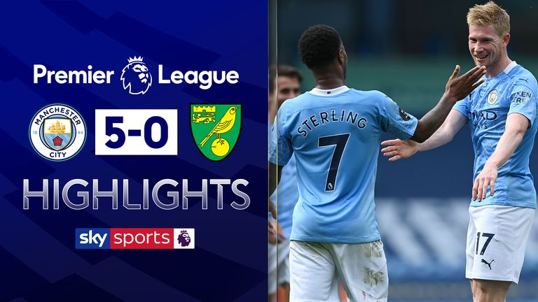 FREE TO WATCH: Highlights from Manchester City's win over Norwich in the Premier League