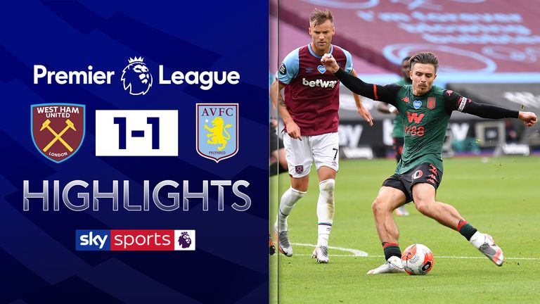 FREE TO WATCH: Highlights from the 1-1 draw between West Ham and Aston Villa in the Premier League