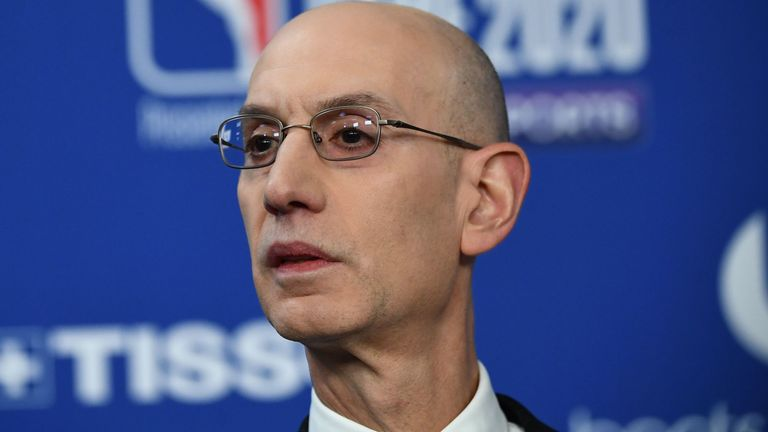 Coronavirus: NBA commissioner Adam Silver admits positive tests ...