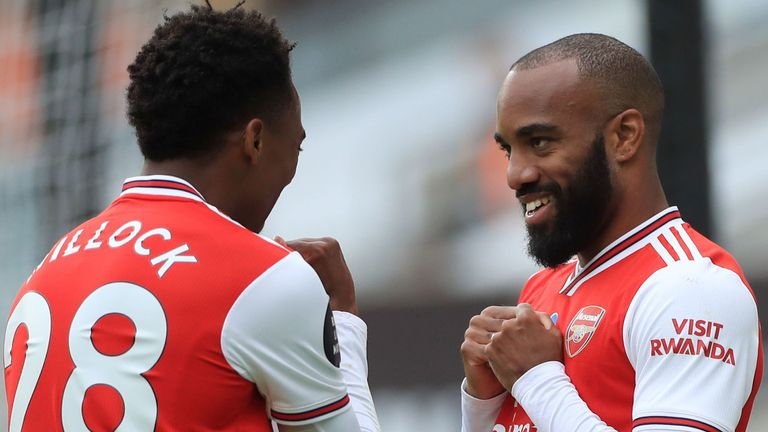 Alexandre Lacazette came off the bench to score Arsenal's second goal at Wolves