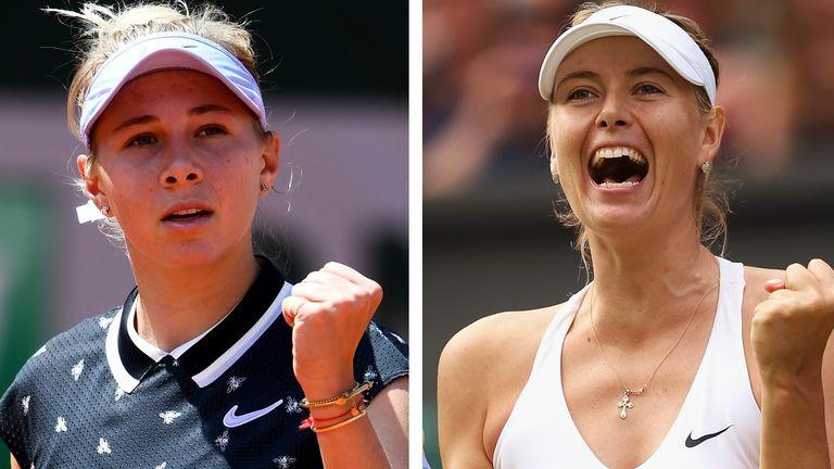 Amanda Anisimova (L) has been dubbed the next Maria Sharapova