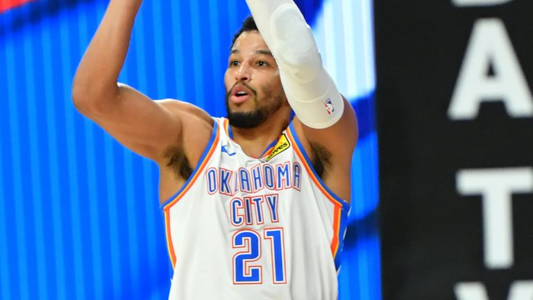 Andre Roberson fires from three-point range