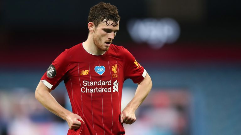 Andy Robertson was below his usual levels