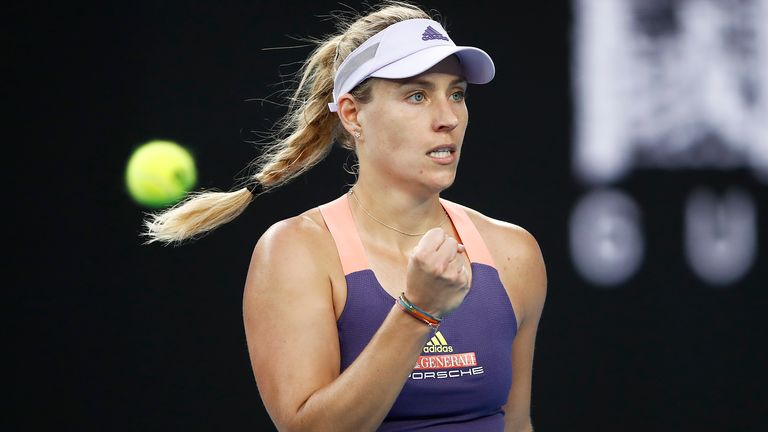 Former champion Angelique Kerber prevailed over Ajla Tomljanovic in the opening round