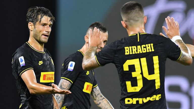 Antonino Candreva broke the deadlock for Inter Milan away to SPAL
