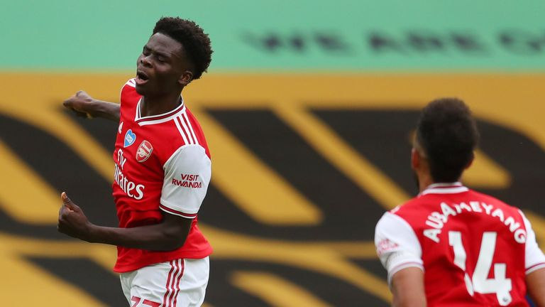 "Bukayo Saka is a ""joy to watch"", says Jamie Redknapp"