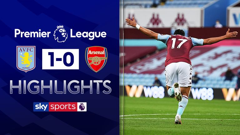 Aston Villa v Arsenal highlights