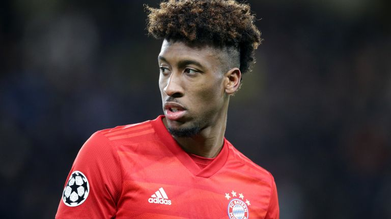 Kingsley Coman is on a shortlist of transfer targets for Manchester United this summer